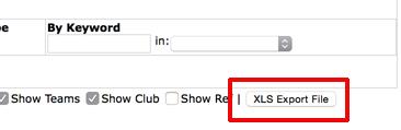 export game schedule to XLS